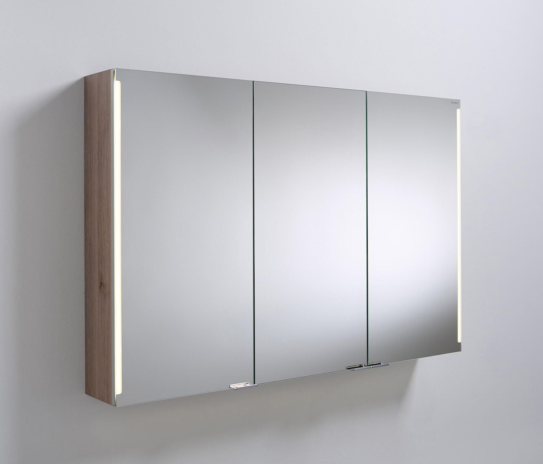 Sys30 Mirror Cabinet With Vertical Led Light Designer Wall