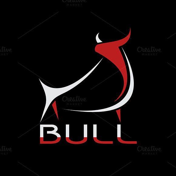 Vector image of an bull design.