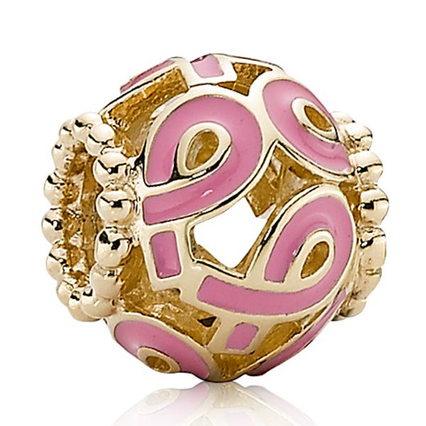 Pandora Pink Ribbon Charm 14K Makeup Nails Pinterest Pink