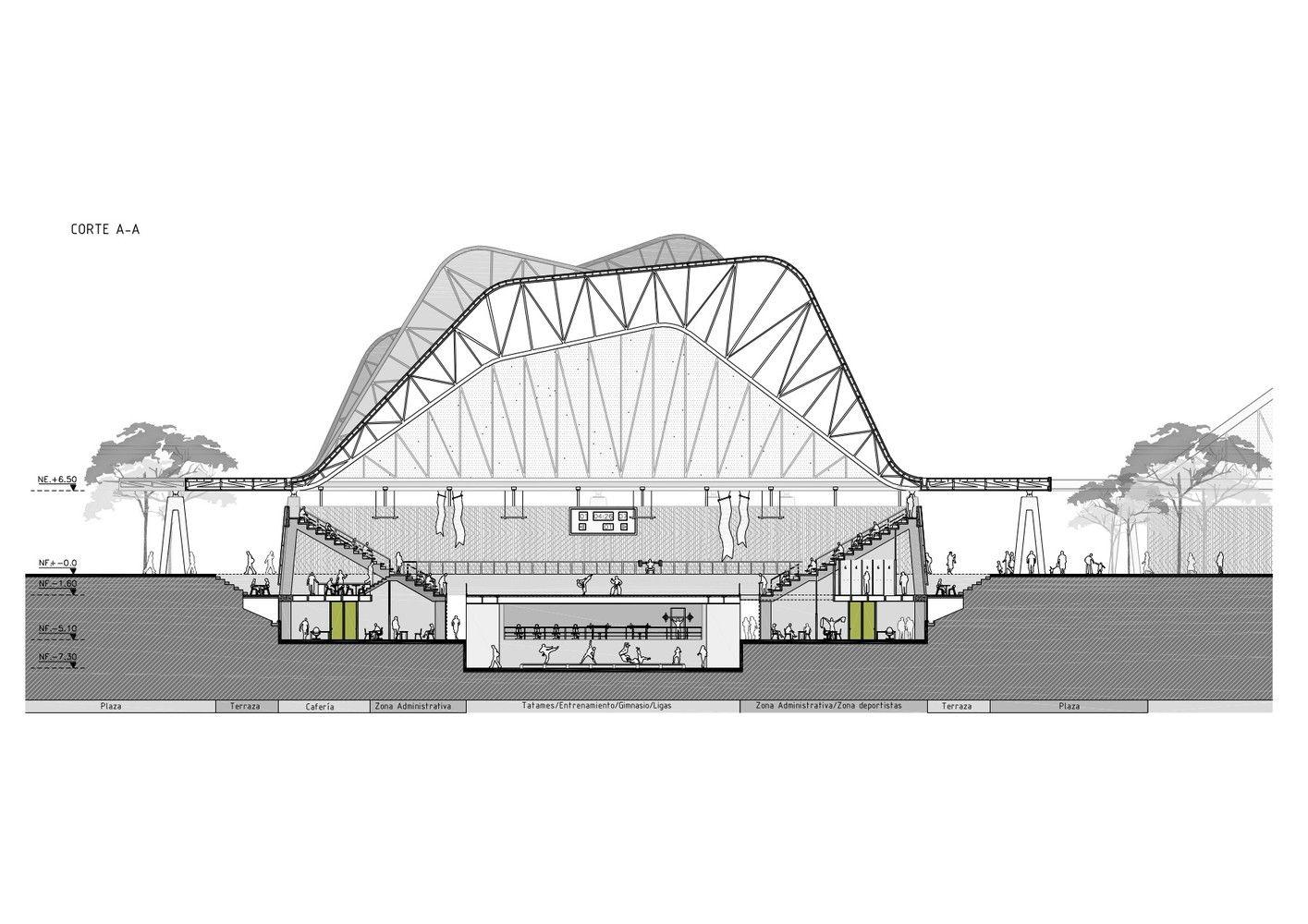 Gallery Of Four Sport Scenarios Giancarlo Mazzanti Felipe Mesa Plan B 7 Architecture Photography Parametric Architecture Architecture