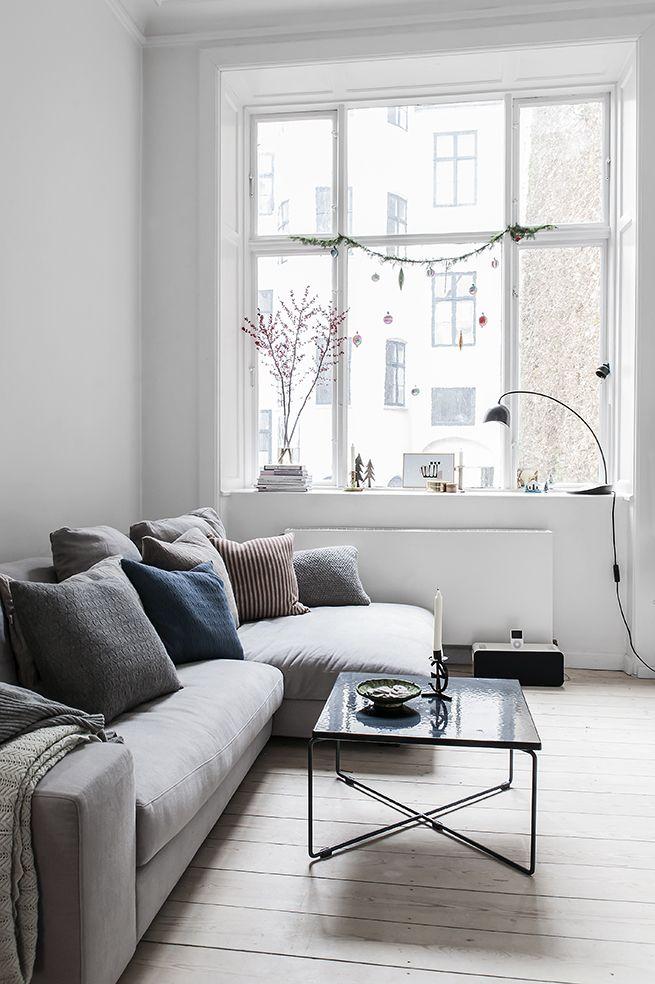 Petite touche scandi salon pinterest wohnzimmer grau Wohnzimmer scandi style