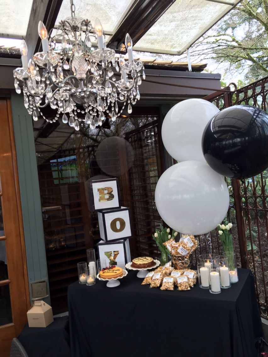Boy Baby Shower Gold Black And White Themed Shop Rent