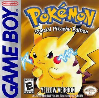 Pokemon Yellow Version Ue C Zip Rom Gameboy Color Gbc Pokemon Yellow Gameboy Gameboy Pokemon