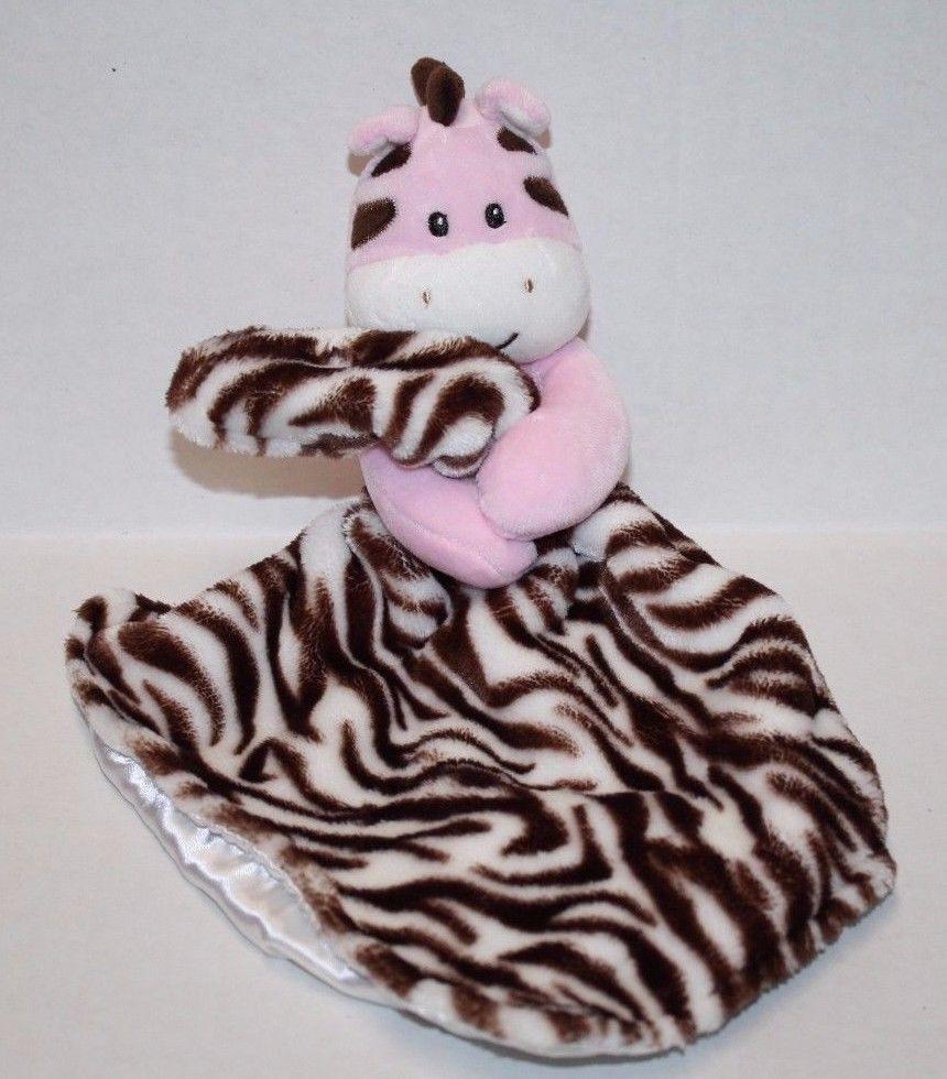 Baby Starters Pink Zebra Security Blanket Rattle Snuggle
