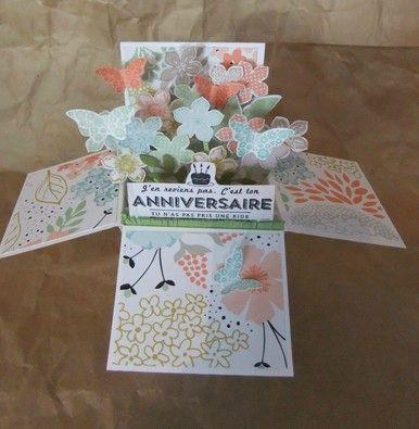 La Carte Boite A Explosion Tuto Authiescrap Birthday Cards To