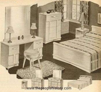 High Quality 1951 Modern Bedroom Set Prices On Furniture In The 50s. This Set Was $179