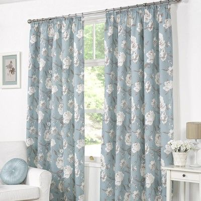 Buy Tessa Rose Duck Egg Lined Curtains