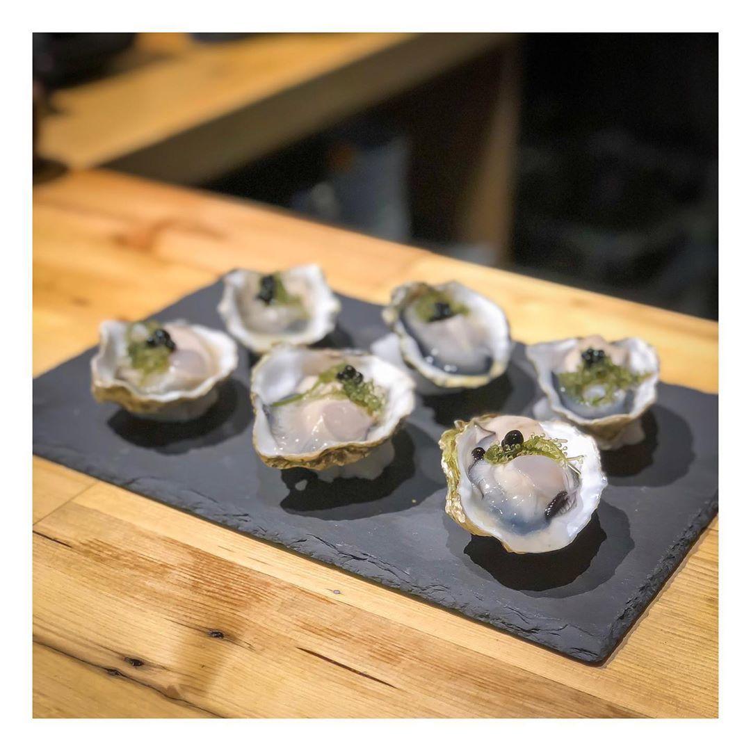 Okayama Oysters | Okinawa Seagrapes | Balsamic Vinegar Pearls • * • * • *