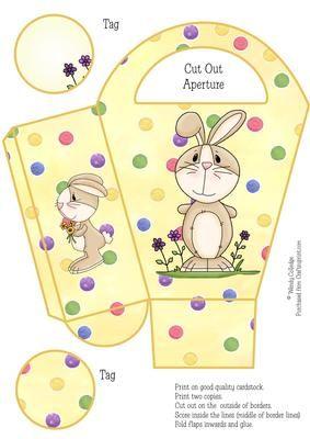 Easy easter bunny gift bag box on craftsuprint designed by wendy easy easter bunny gift bag box on craftsuprint designed by wendy colledge fab and easy negle Choice Image