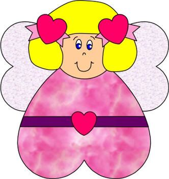 heart angel paper craft Used for angels tell Mary and Joseph about ...