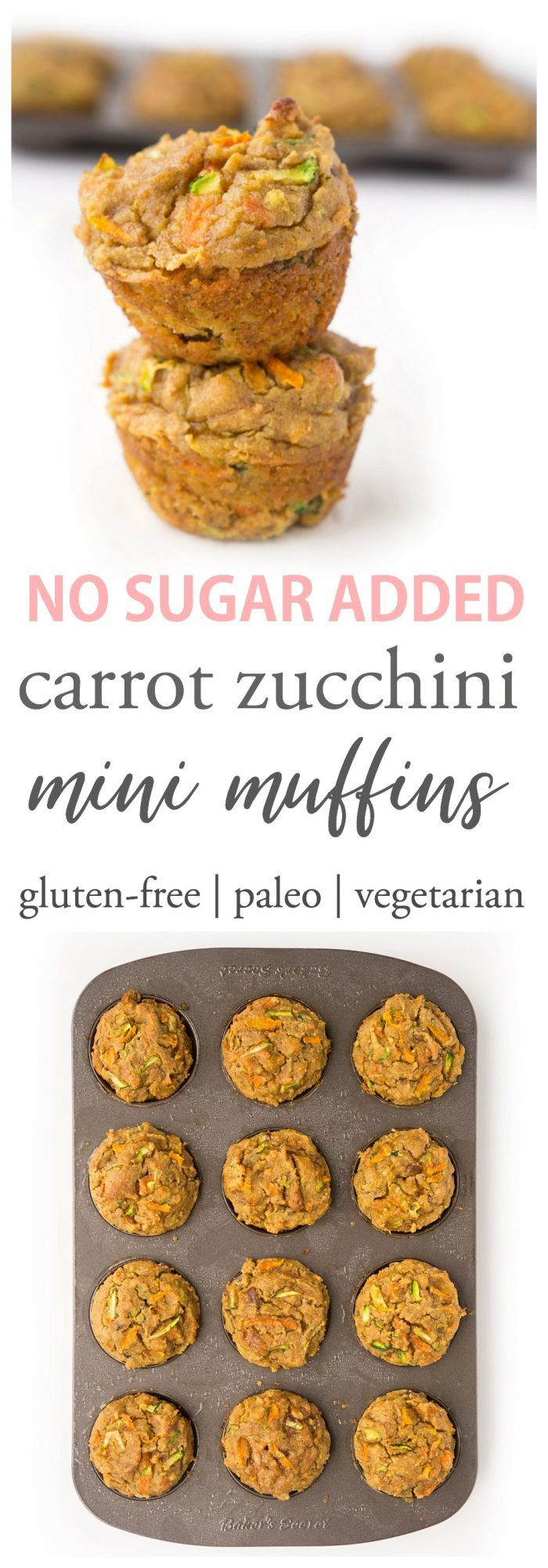 Mini Carrot Zucchini Muffins #fingerfoods