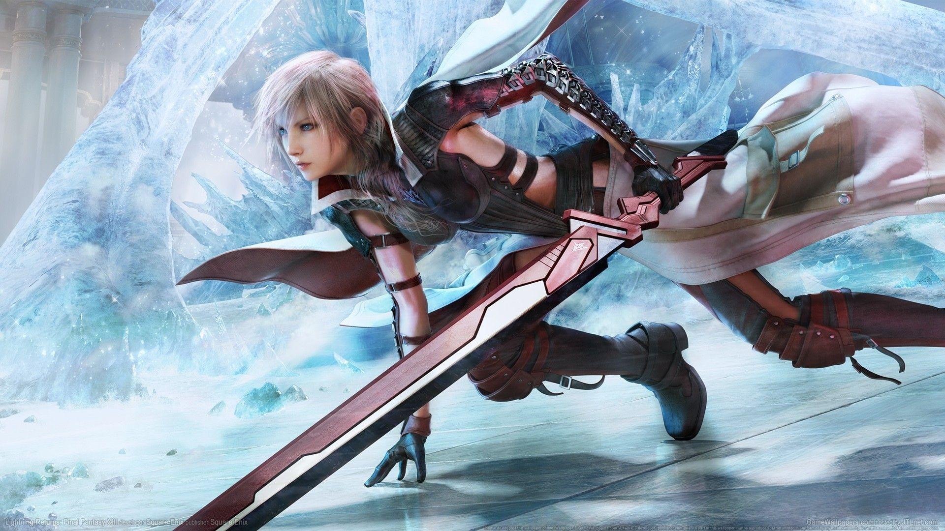 Sword Ice Video Games Claire Farron Final Fantasy Xiii