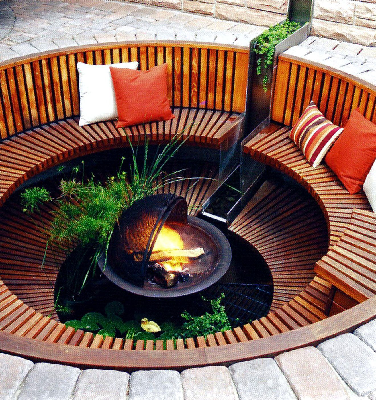 Sunken Outdoor FirePit   Sunken fire pits, Outdoor bbq ...