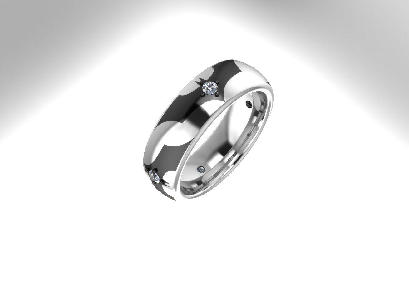 Custom Made Batman Wedding Or Anniversary Ring