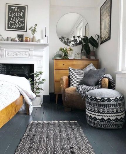 Bohemian minimalist with urban outfiters bedroom ideas 10 | Inspira Spaces