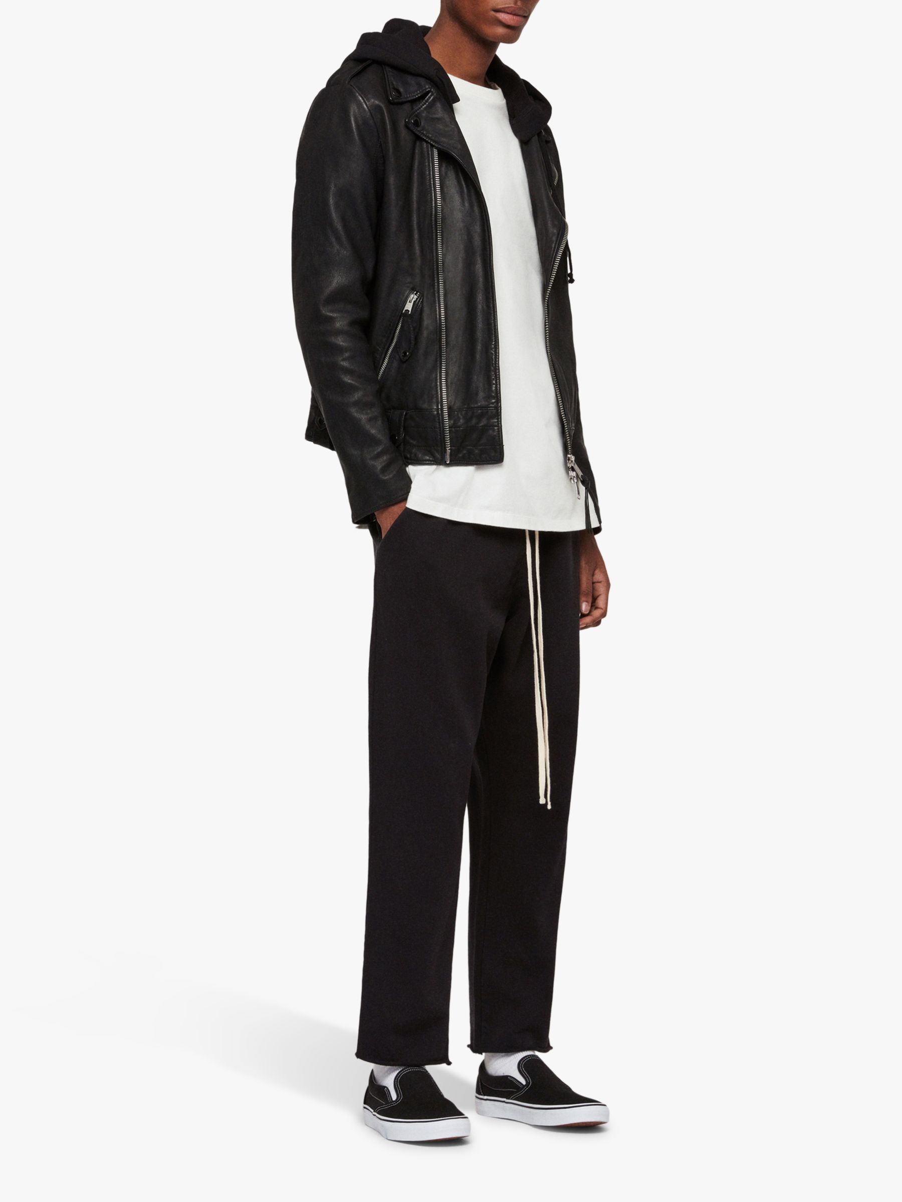 New with tags All Saints Woodley Biker Jacket Black