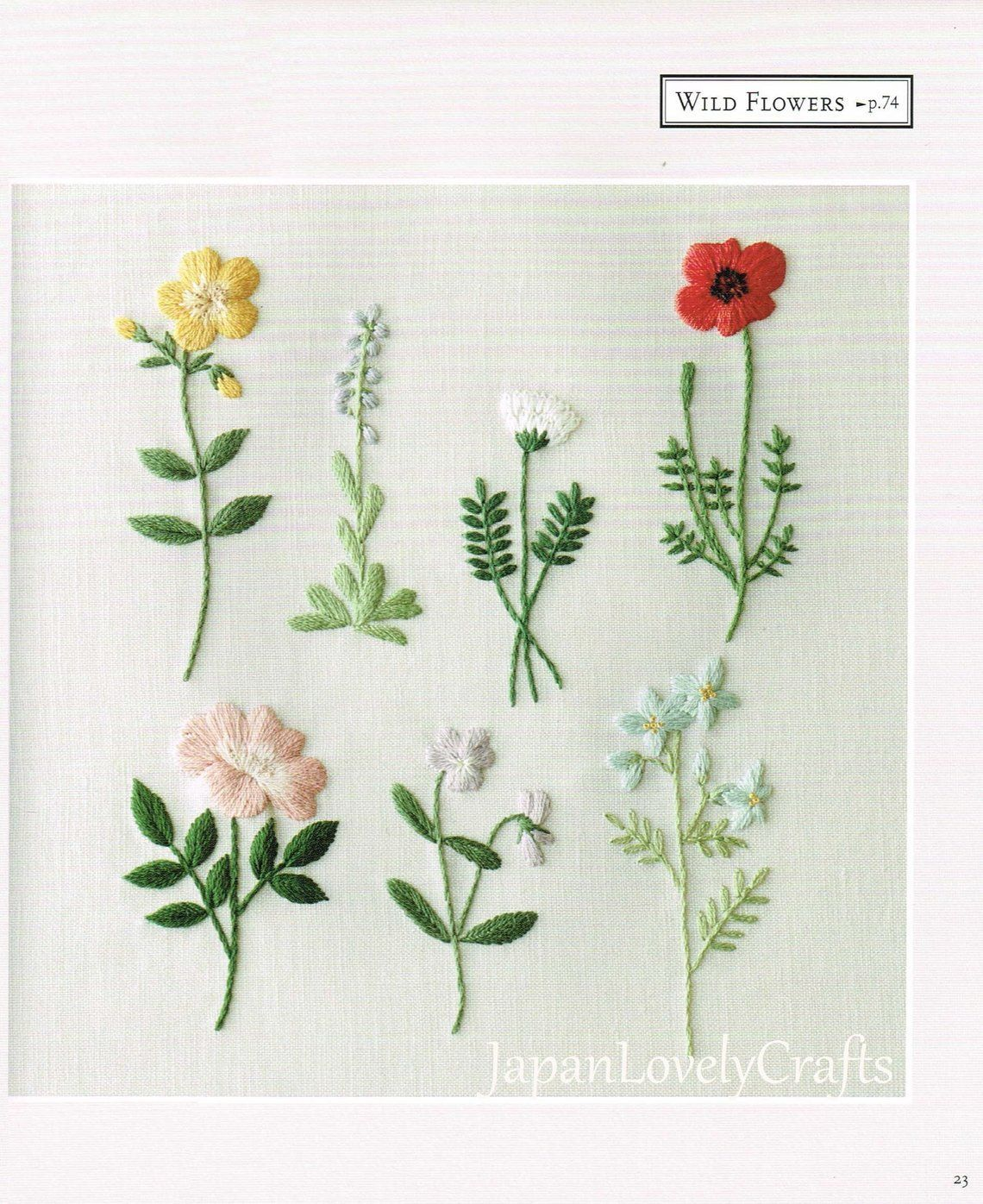 Floral Embroidery Pattern For Beginners In 2020 Embroidery Patterns Vintage Japanese Embroidery Embroidery Flowers