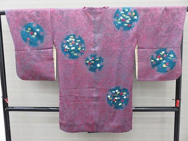 ご覧頂きありがとうございます★ ++ 商品説明 ++ st021 アンティーク 正絹 道行 袷 ピンク緑 刺繍 身丈87cm 裄62.5cm(身頃側1.5cm、袖側1cm折込あり) 袖丈53cm(3.5cm折込あり) 袖巾32cm おくみ15.1cm 前巾18.6cm 後ろ巾28.5cm シミが多数あります。 裏地にもシミがあります。 ++商品状態++ ②です 多少の小シミ程度御座いますが酷く目立つものではなく十分着用して頂けます。 ++商品ランク説明++ 当方の評価で商品を5段階にランク分けしてお...