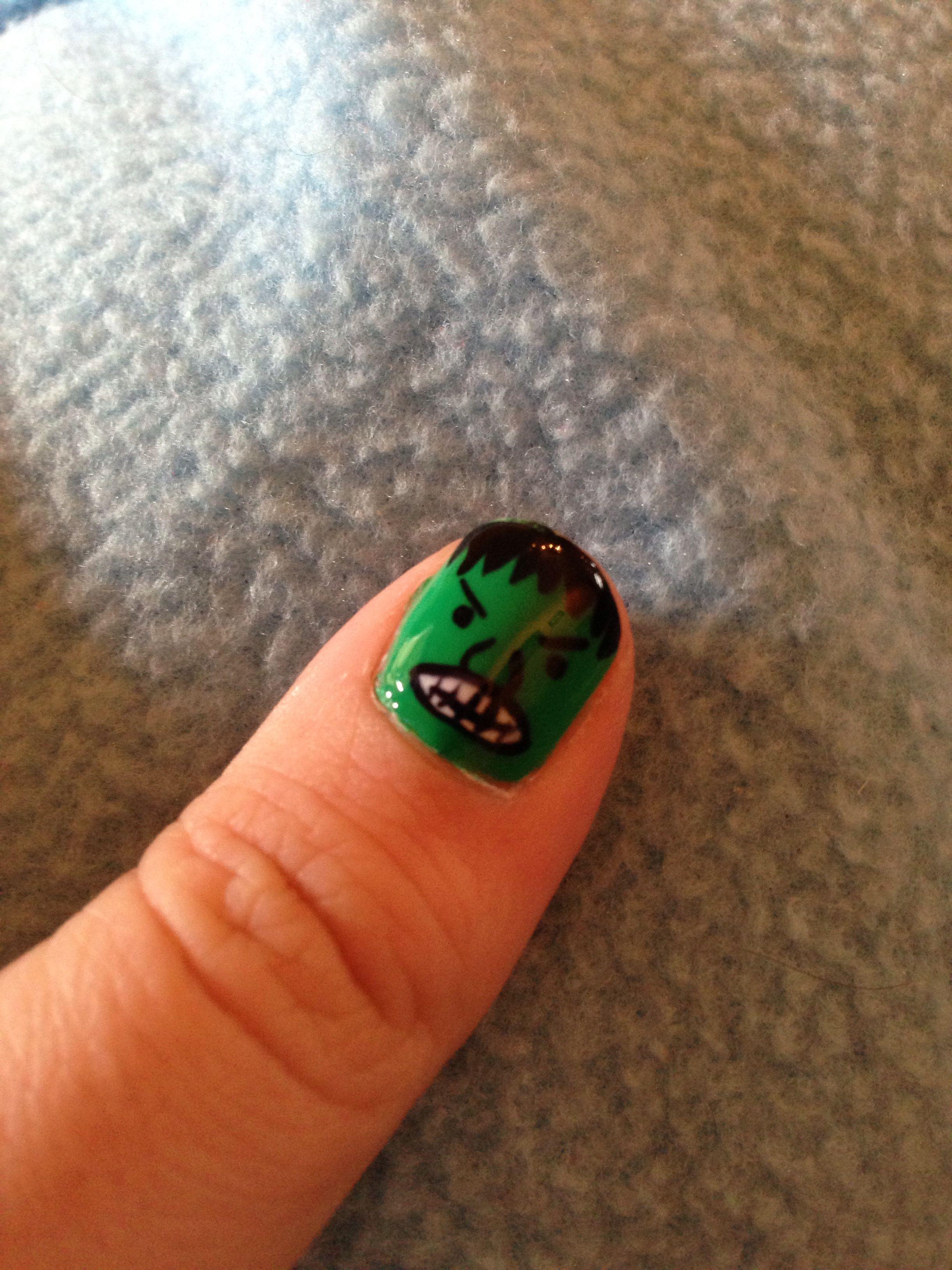 Hulk nail art!!!