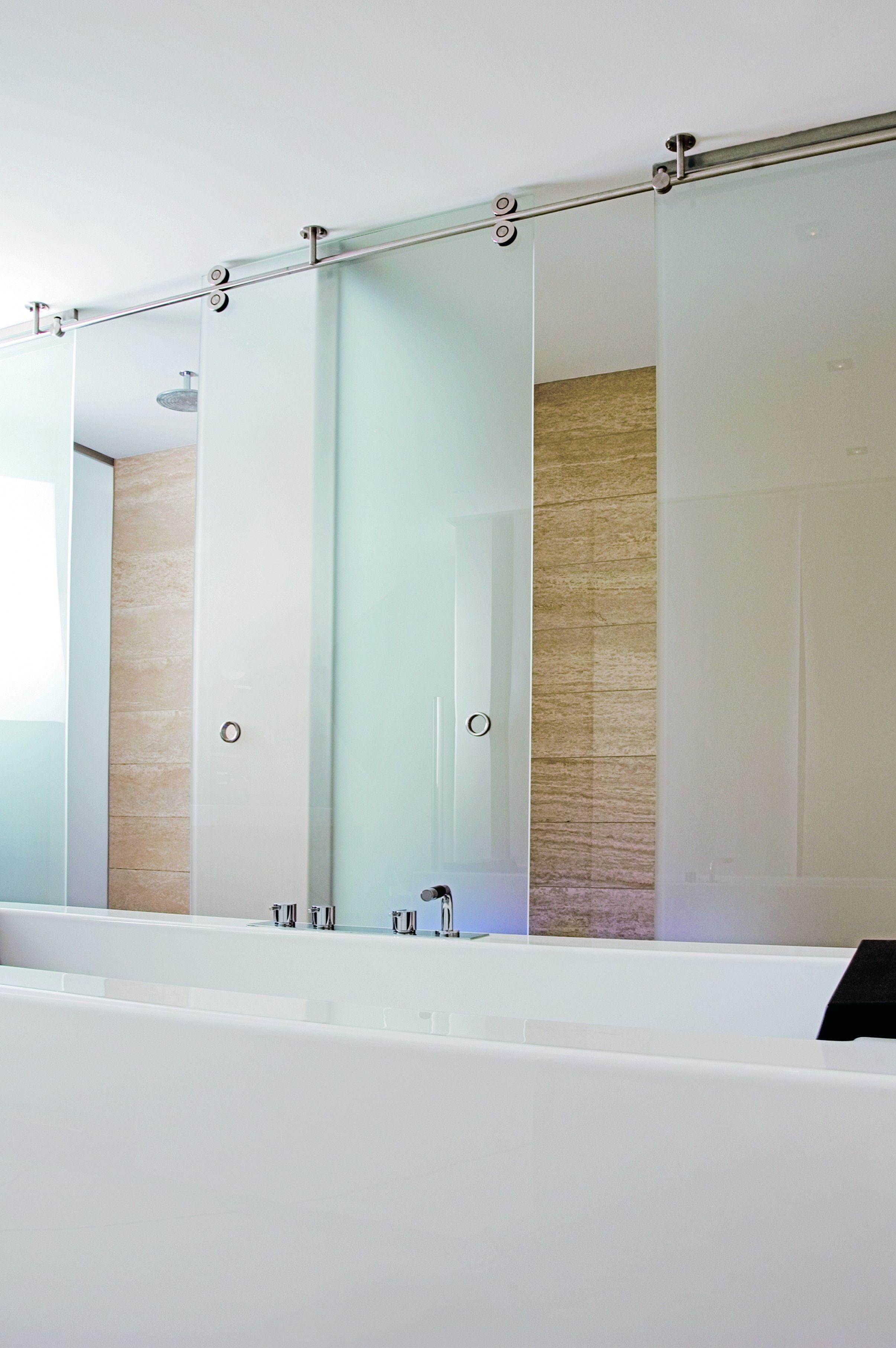 glazen schuifdeuren badkamer inspiratie luxe schuifdeur