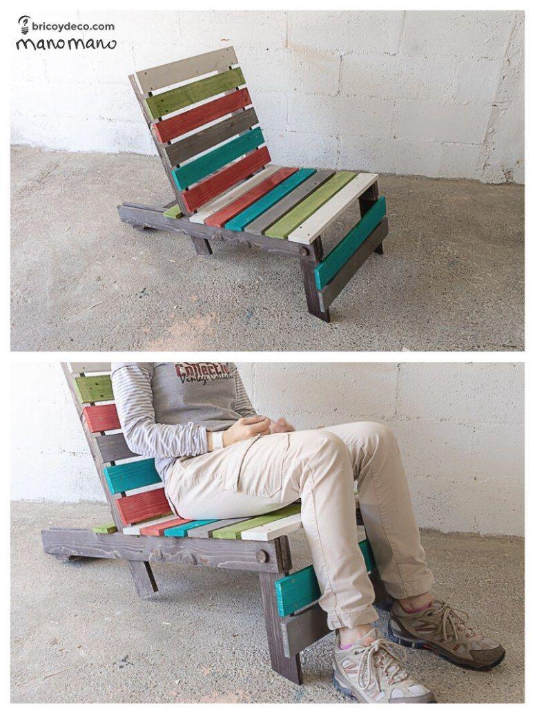 sillas plegables de palets