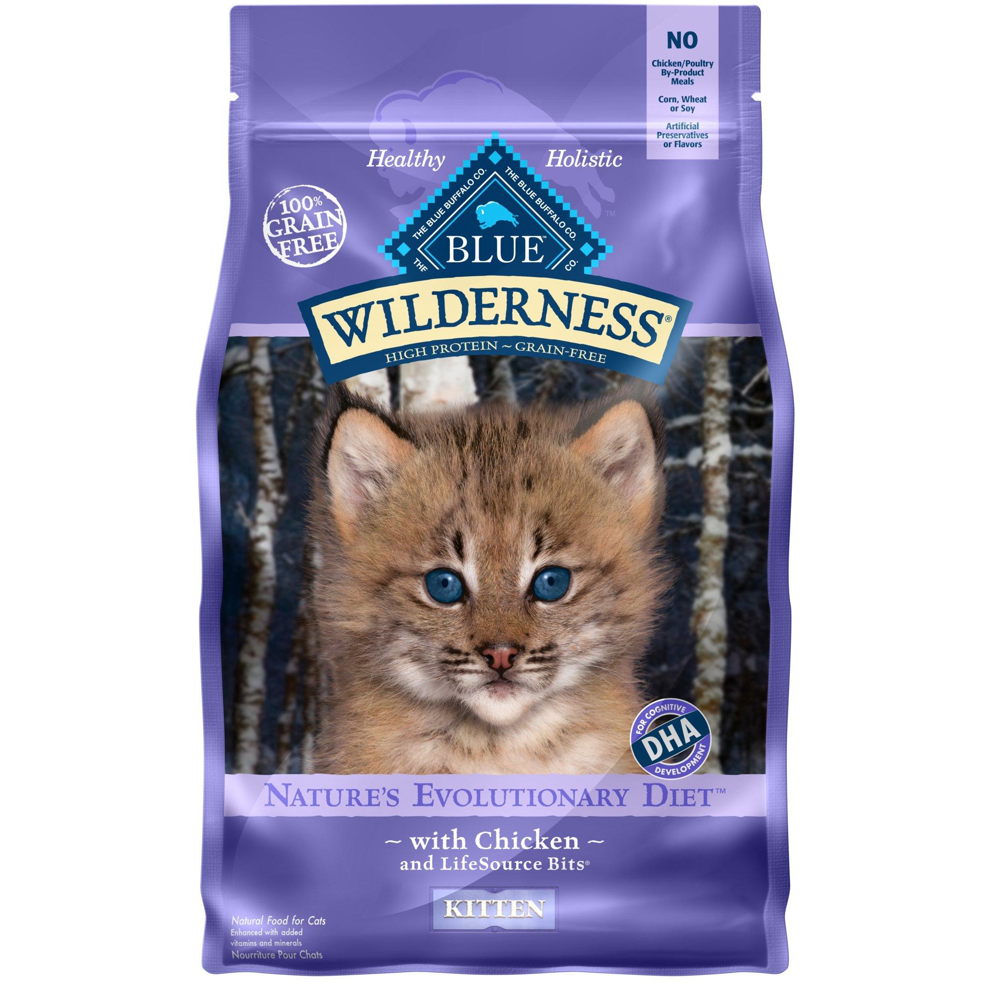 Blue Buffalo Wilderness Natural Kitten High Protein Grain Free Chicken Dry Cat Food 5 Lbs Kitten Food Dry Cat Food Best Cat Food