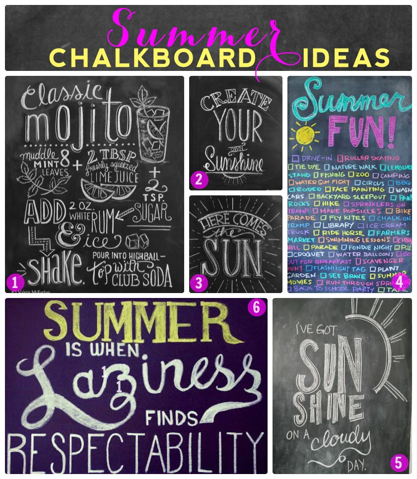 Summer Chalkboard Design Ideas.... Can\'t wait to decorate my ...