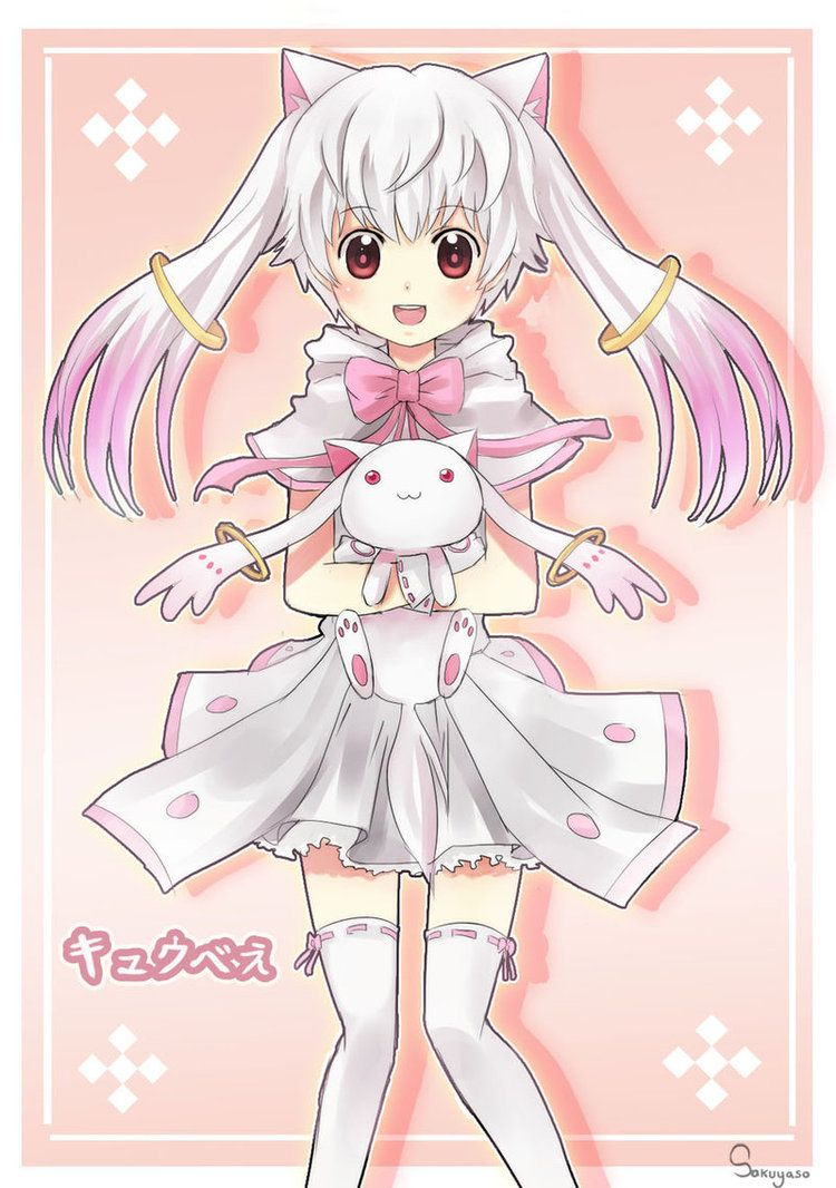 Kyubey is adorable as a genderbent human. Description from ...