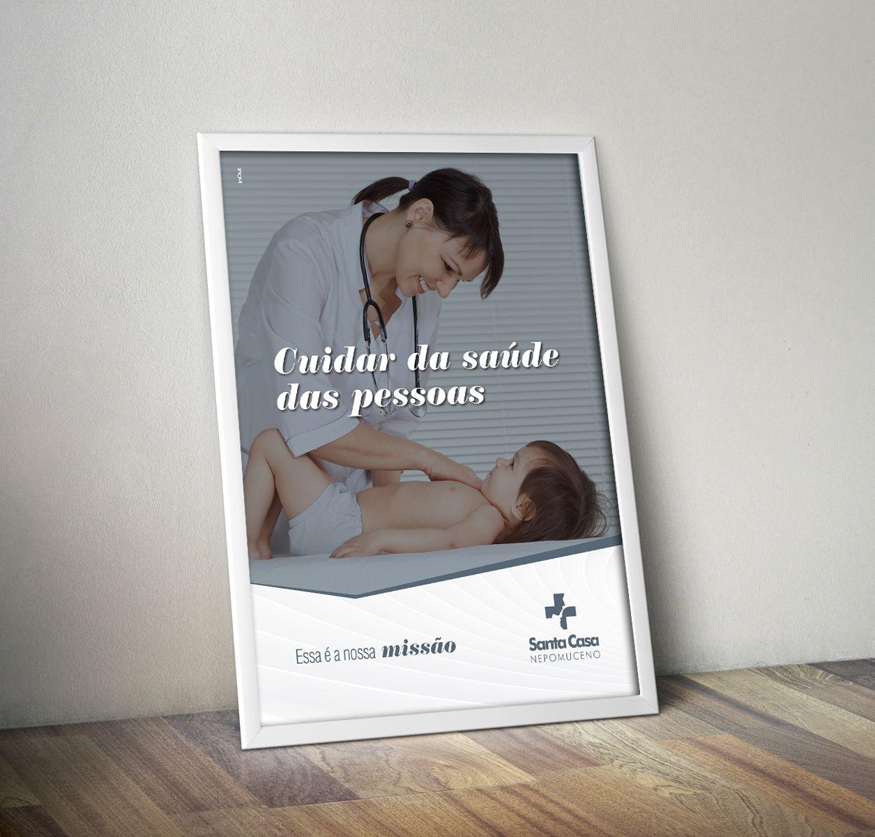 Cartaz - Campanha cuidar da saúde das pessoas - Santa Casa de Nepomuceno