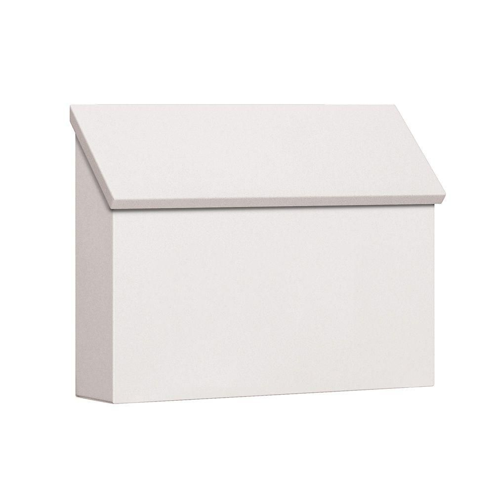 Salsbury Industries 4600 Series White Standard Horizontal Traditional Mailbox 4610wht The Home Depot Wall Mount Mailbox Traditional Mailboxes Mounted Mailbox