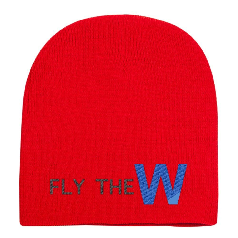 Fly The W - Cubs Playoff Knit Beanie