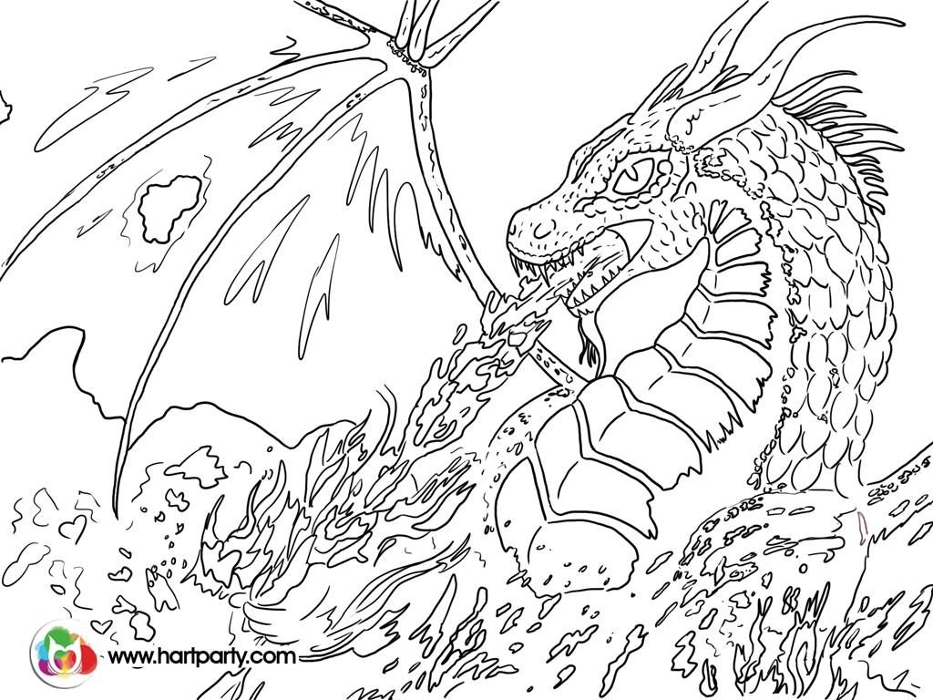 Trace-able coloring page for Fire breathing Dragon :) https://www ...