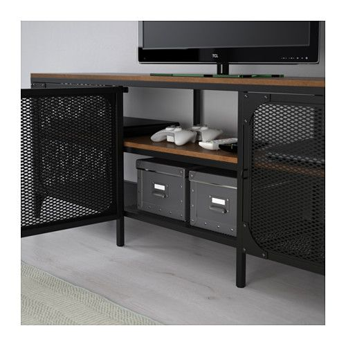 fj llbo tv bank schwarz tv units and tv bench. Black Bedroom Furniture Sets. Home Design Ideas