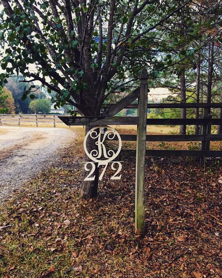 Customized Address Hanging Sign Driveway Metal Sign Diy Driveway