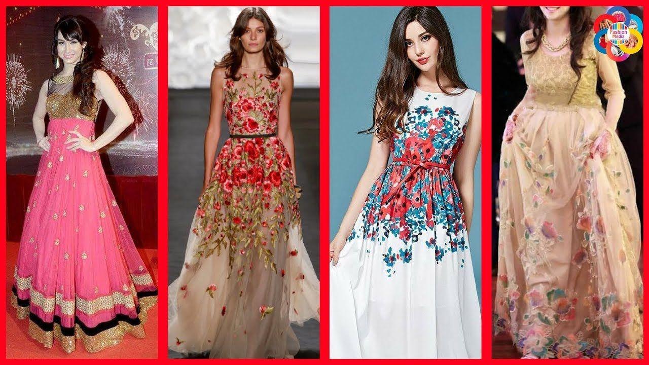 40956806d455 Fancy   Stylish Designer Party Wear Dresses for Girls Beautiful ...