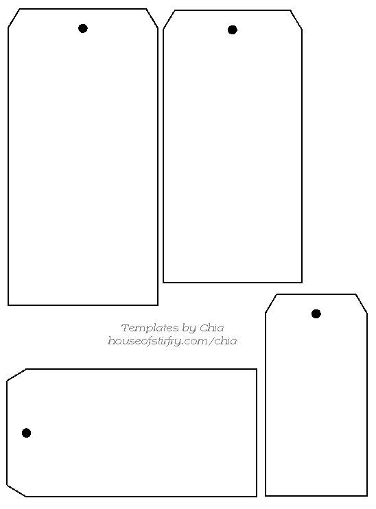 graphic relating to Printable Hang Tags named Free of charge Printable Dangle Tags Tags Template Templates