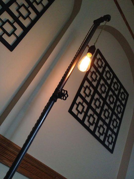 Edison Light Floor Lamp Plumbing Pipe Lamp by newwineoldbottles ...