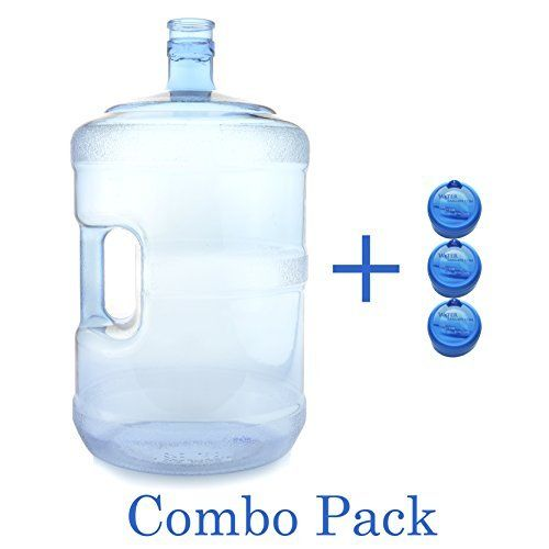 5 Gallon Bpa Free Water Cooler Bottle 55mm Snap Top Includes 3 Free Bottle Caps 5 Gallon Water Bottle Wit Water Cooler Bottle Gallon Water Bottle Bottle