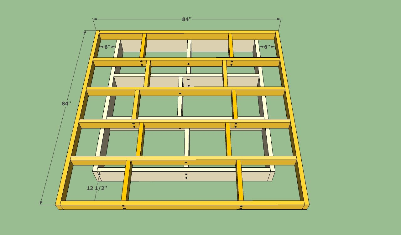 Platform Bed Frame Plans Howtospecialist How To Build Step By Step Diy Plans Diy Bed Frame Floating Bed Diy Diy Bed Frame Easy