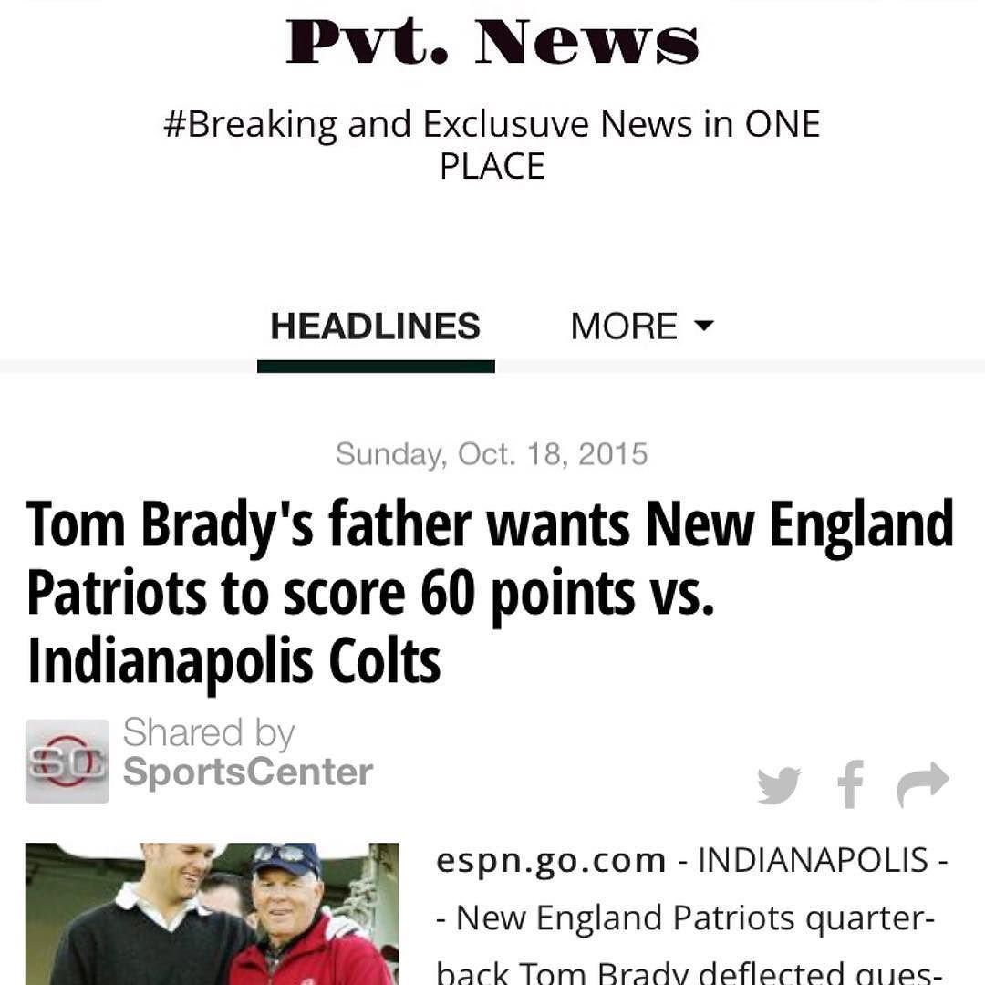 #TomBrady #Dad #Football #Sports  Pvt. News: Have u read it TODAY?  t.co/8zY1RzwmVj or Google #PvtNews