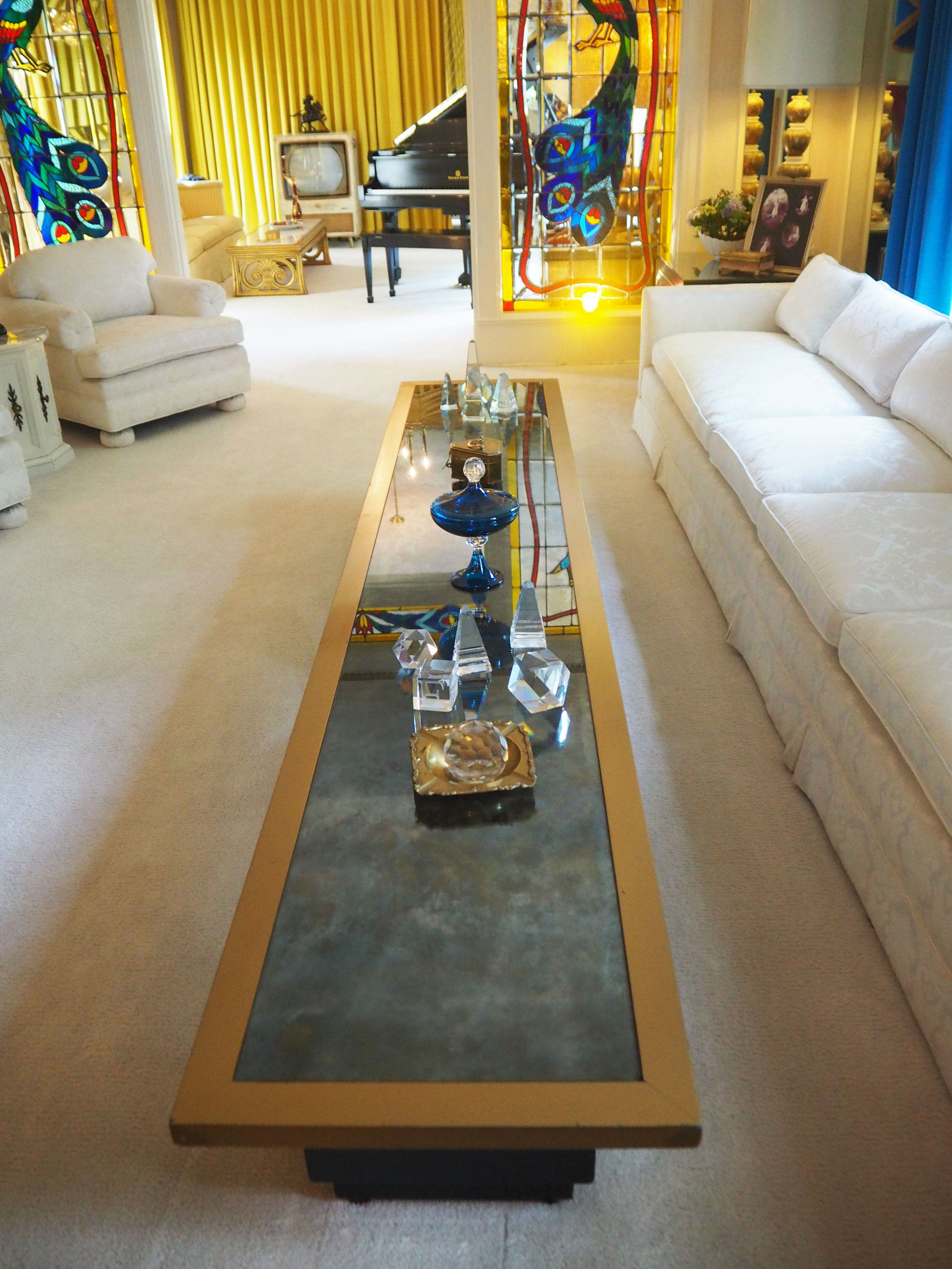 The Living Room Inside Graceland {elvis Presley's Home, In Memphis Tennessee}  To