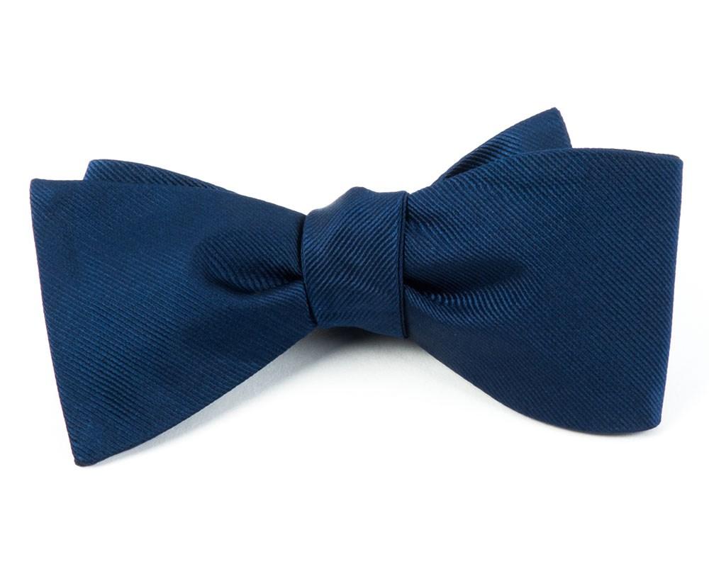 Grosgrain Solid Navy Bow Tie Men S Bow Ties Navy Bow Tie Silk Bow Ties Grosgrain
