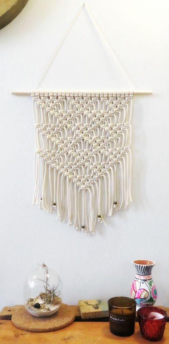 Wall weaving in modern deco macrame wall wall hanging home décor