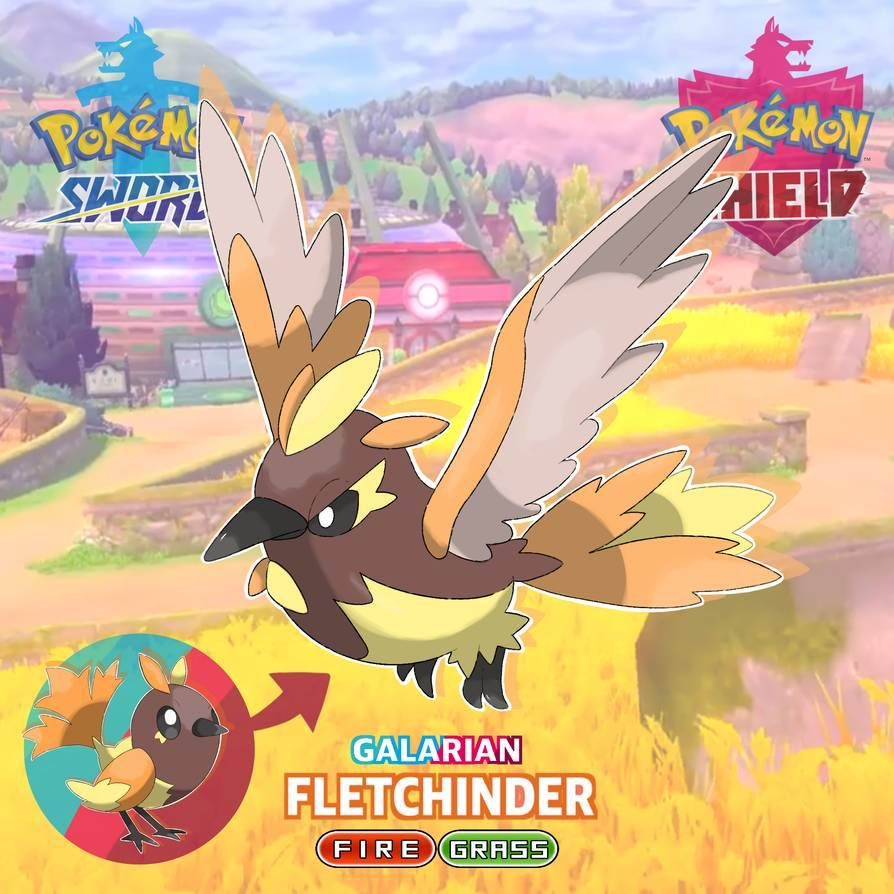 Galarian Fletchinder By Soullianart On Deviantart Pokemon Fusion Art Pokemon Pictures Pokemon Breeds