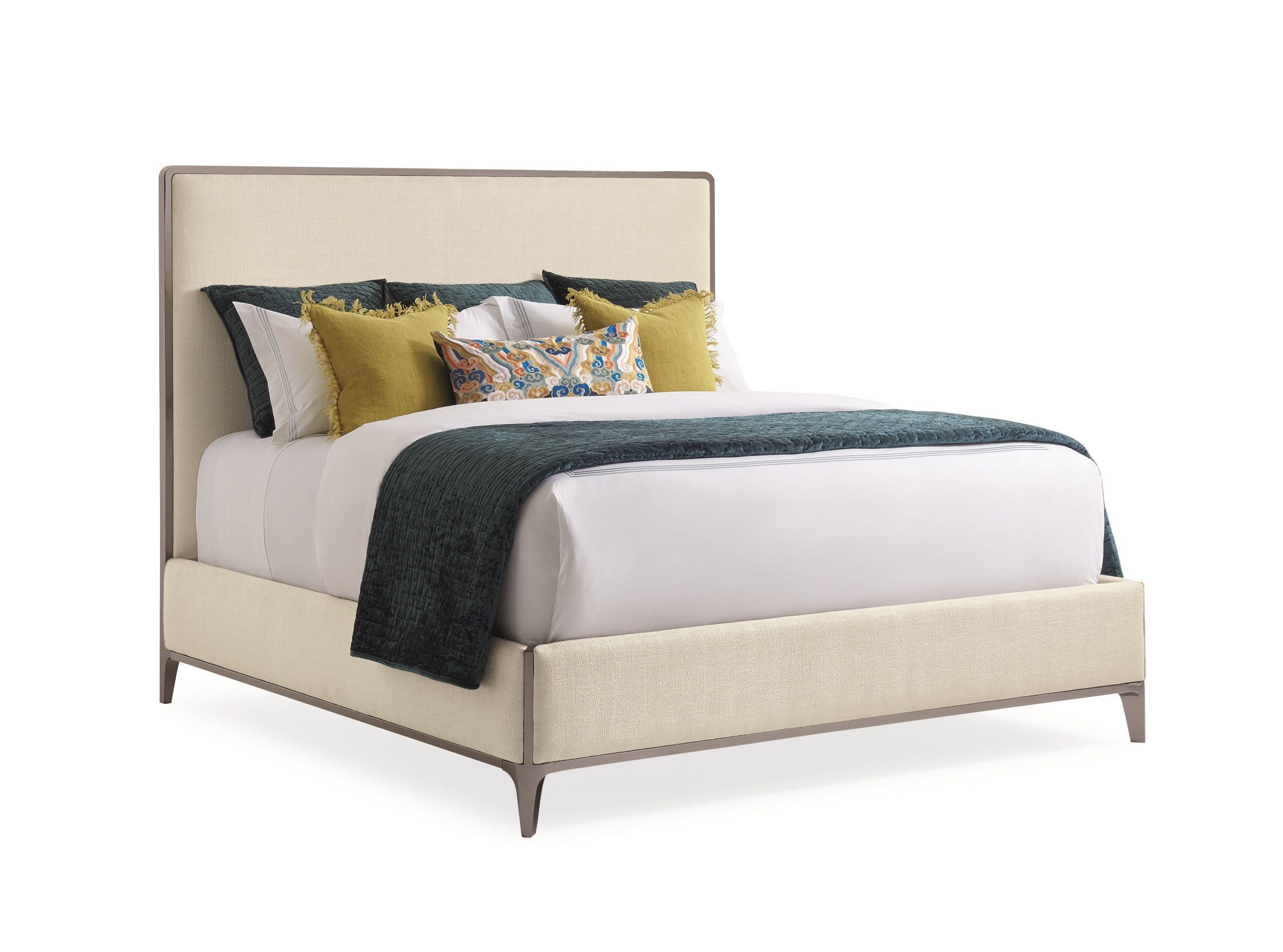 The Contempo King Bed Caracole With Images Contemporary Bed