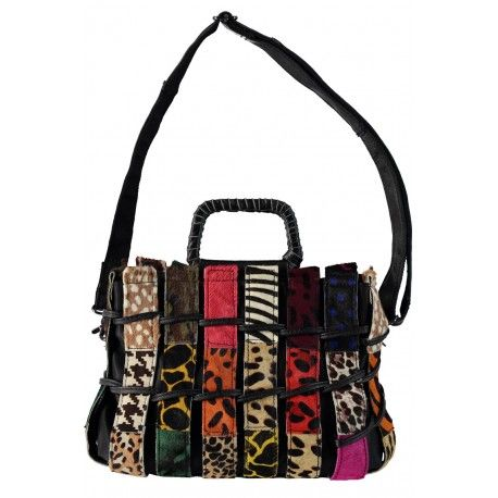d34294afca3 Annone bag made out of recycled pieces of suede leather. Make Up Tassen,  Rugzak