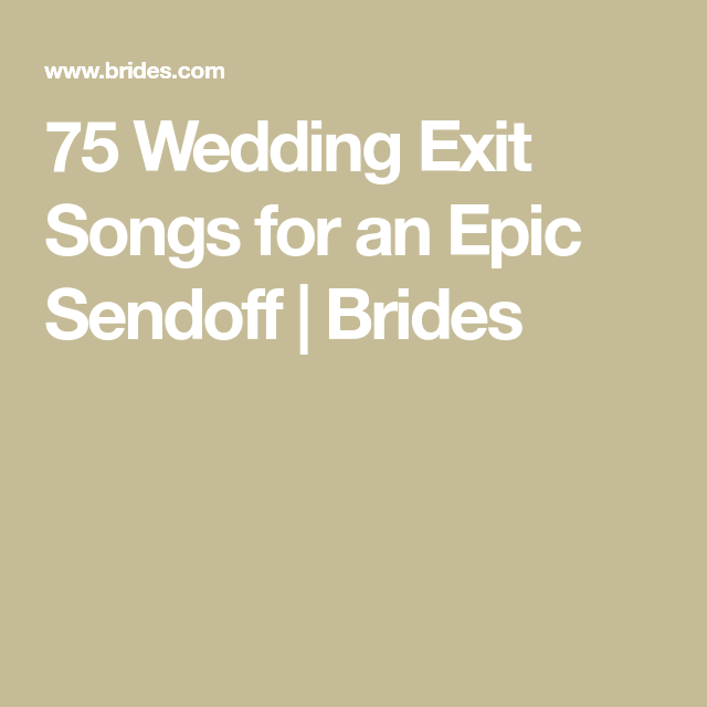 Modern Wedding Ceremony Songs: 75 Wedding Recessional Songs You'll Love