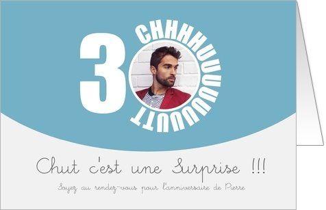 Chut C Est Une Surprise Carte Invitation Anniversaire Invitation Anniversaire Carte Invitation