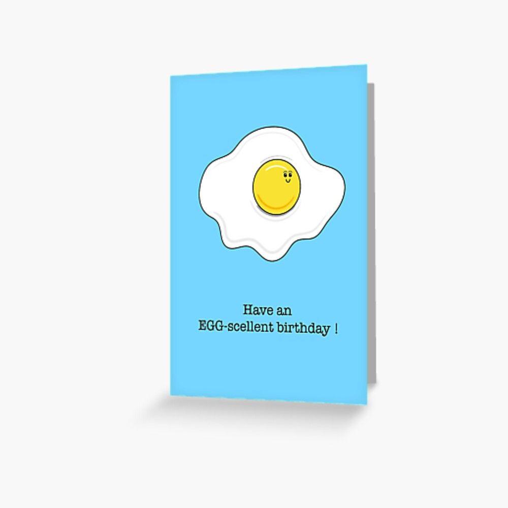 Funny Egg Birthday Card Greeting Card By Adam Regester Funny Eggs Birthday Cards Greeting Cards