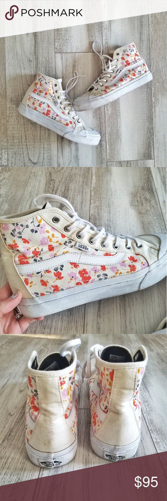 bd4e886580ab 50% closet sale!Limited edition Vans Leila Hurst l These Vans x Leila Hurst high  tops have a super cute floral print and comfy cushioned insoles.